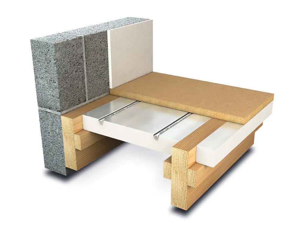 underfloor heating system for joisted floors diagram