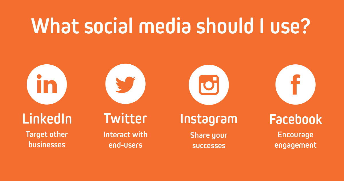 What social media should I use?