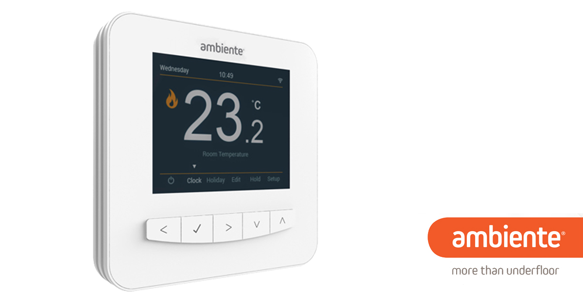 visual thermostat for UFH