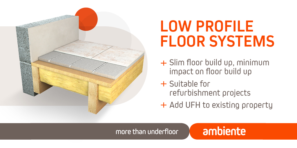 Low profile underfloor heating